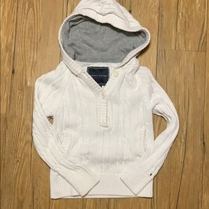 Tommy Hilfiger knitted hoodie.